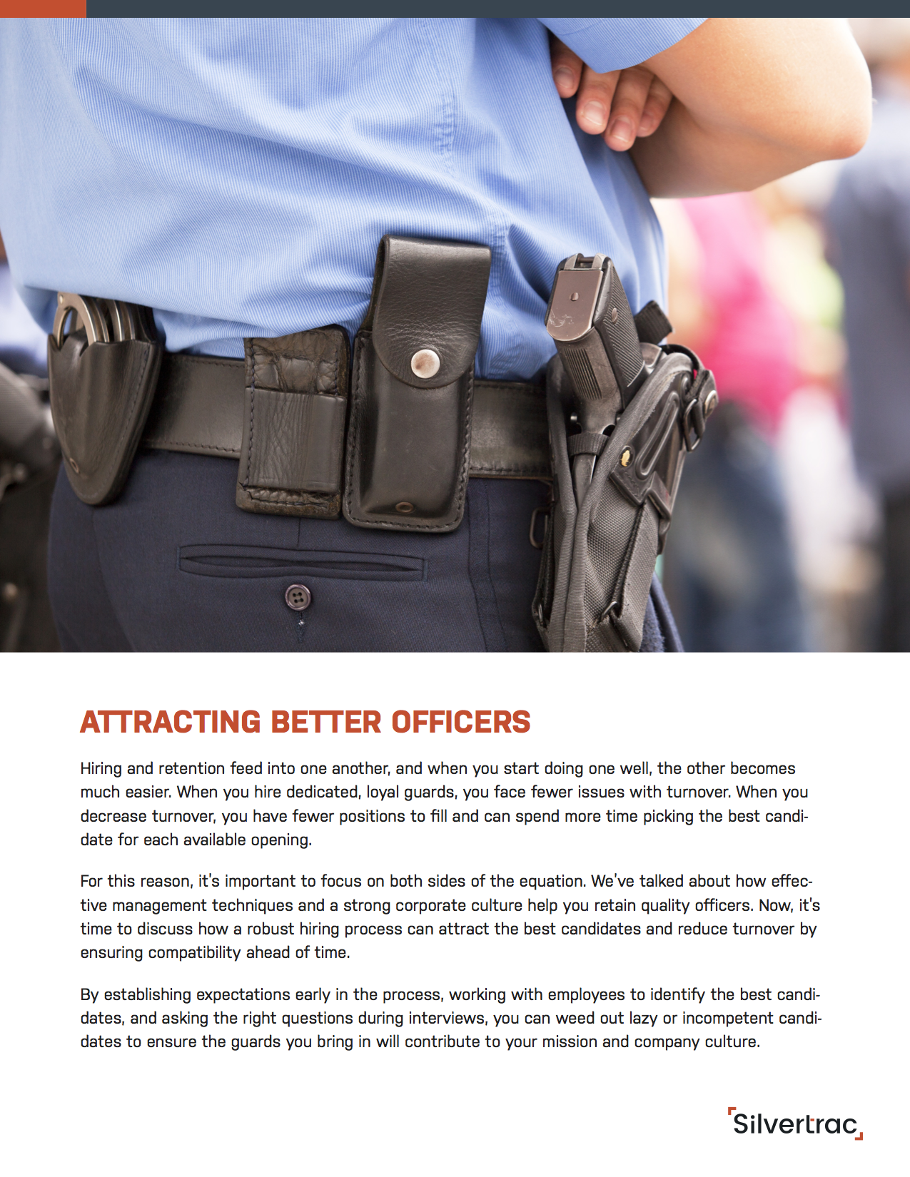 Why Do Good Security Officers Quit? A Silvertrac Guide Page 1
