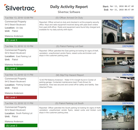 Daily Activity Report Sample