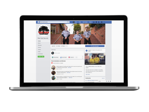 Security Company Facebook Page