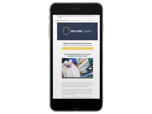 Security Company Newsletter Template