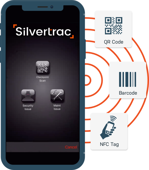 Silvertrac Guard Management Software Guard Tour Software Solution on the iPhone