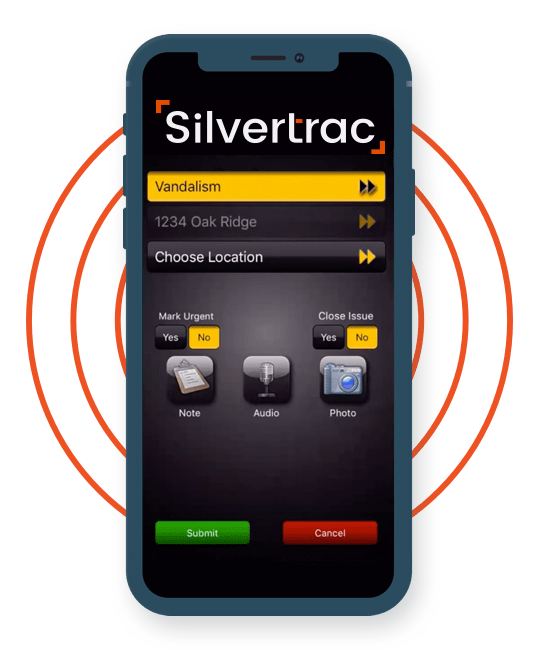 Silvertrac Guard Management Software Security GUard Incident Reporting SOftware on the iPhone